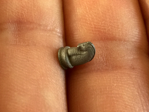 A near-microscopic metal 3D print from Höganäs' machine