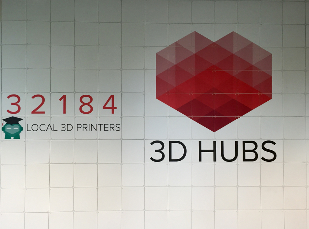 The dynamic progress scoreboard in 3D Hubs' boardroom. No doubt it's higher when you read this