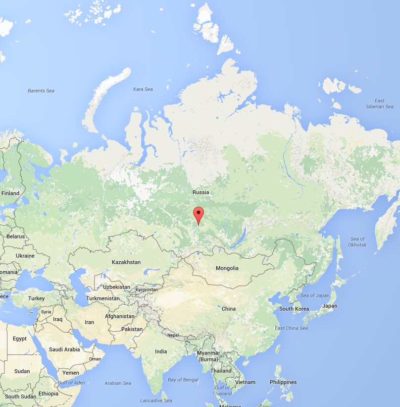 In case you don't know where Krasnoyarsk is located