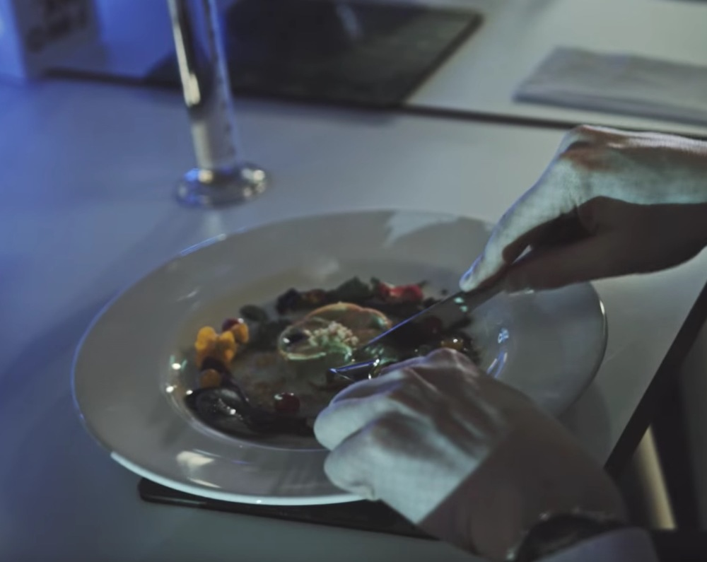 Dining on (partially) 3D printed food