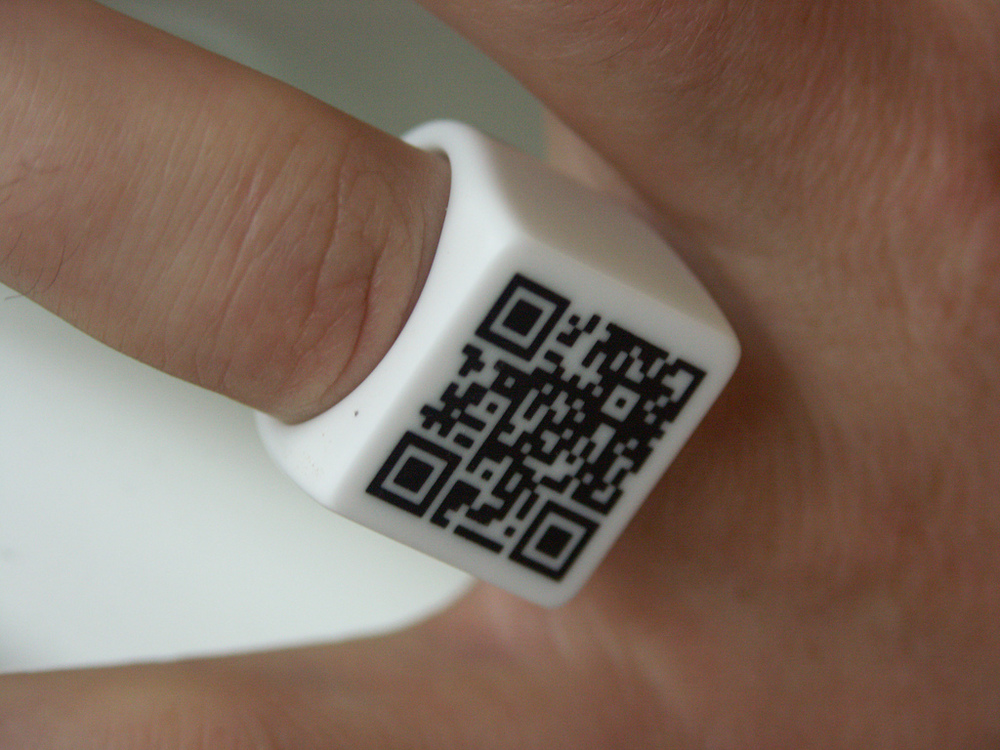 Using QR code to track a 3D model? : QR Code Ring detail by Individual Design, CC BY-SA