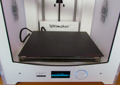 The BuildTak FlexPlate system installed in an Ultimaker