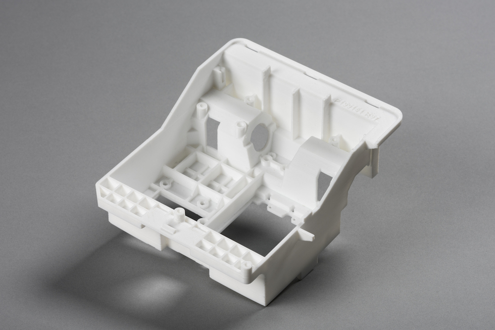 A sample part from the Rize One 3D printer