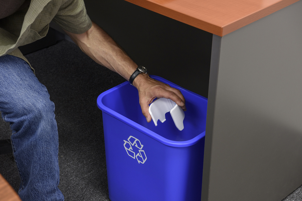 Recycling support material from the Rize One 3D printer
