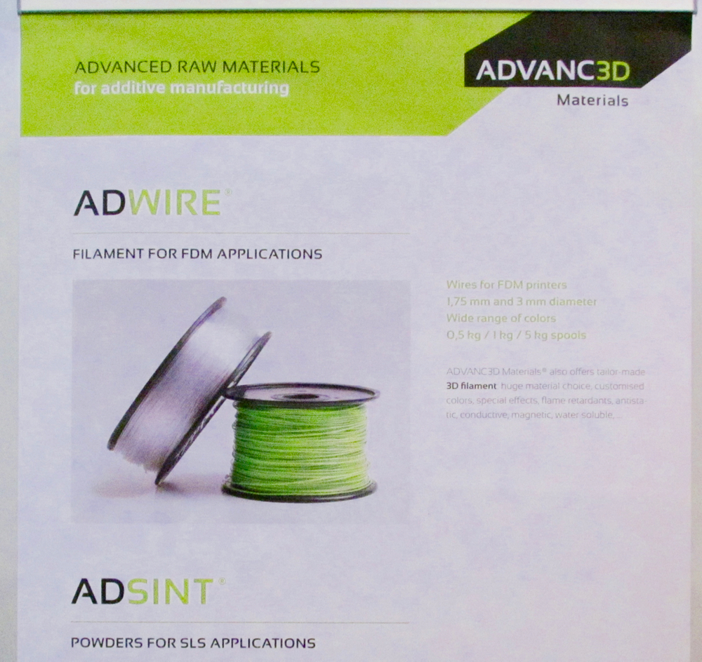 Some of ADVANC3D Materials' products