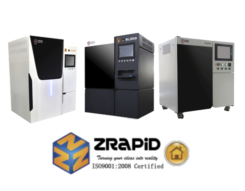 Some of ZRapid's many industrial-quality 3D printers