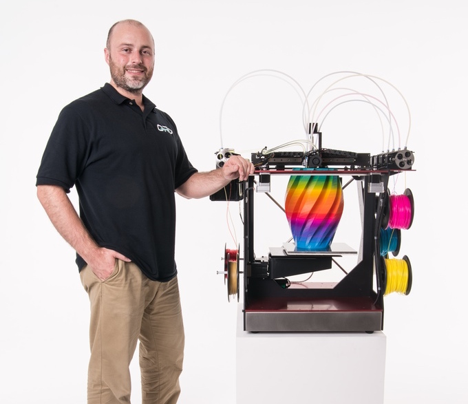 ORD's Chris Gibson and the new RoVa4D Full Color Blender 3D printer