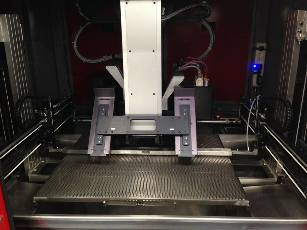 Inside Prodways' M350 3D printer