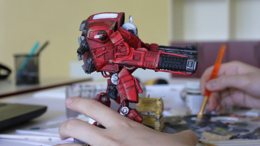 Painting a 3D printed Mechwarrior