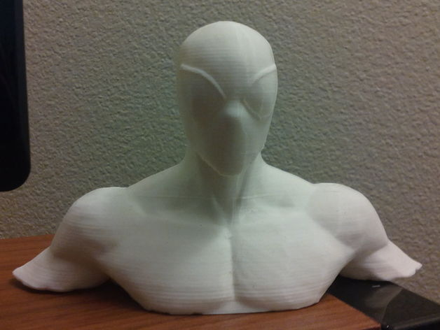A spiderman bust found on Thingiverse