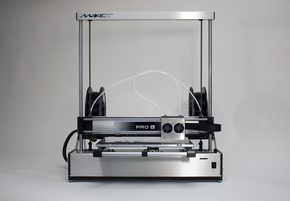 The shiny new MAKEit Pro-L desktop 3D printer. Yep, shiny!