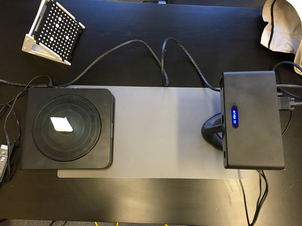 The Afinia ES360 desktop 3D scanner in final ready state