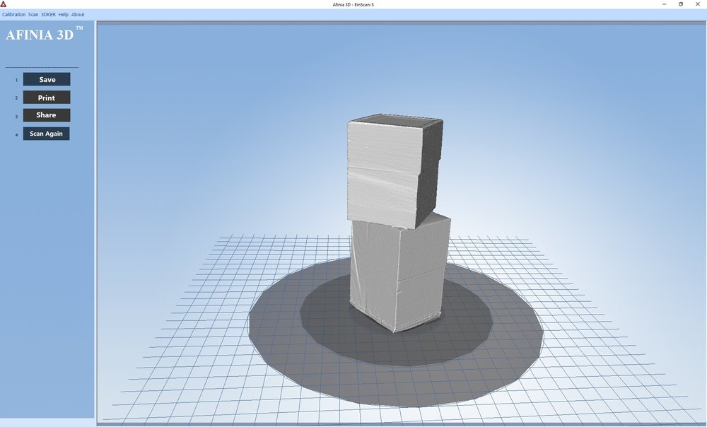 Another excellent 3D scan by the Afinia ES360 desktop 3D scanner