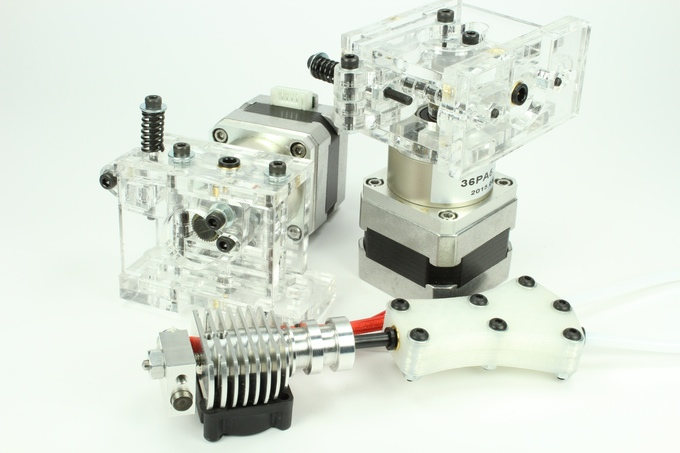 The components comprising the new Prometheus dual extrusion system