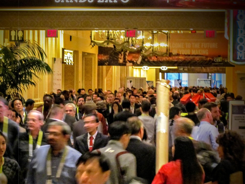 Big crowds at a major trade show