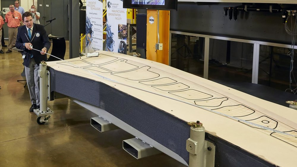 Measuring what will briefly be the world's largest 3D print