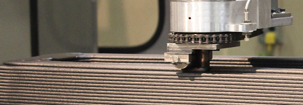 Thermwood's LSAM lays a very thick bead per layer