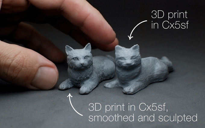 Here's how CX5 can make a rough print have far more details