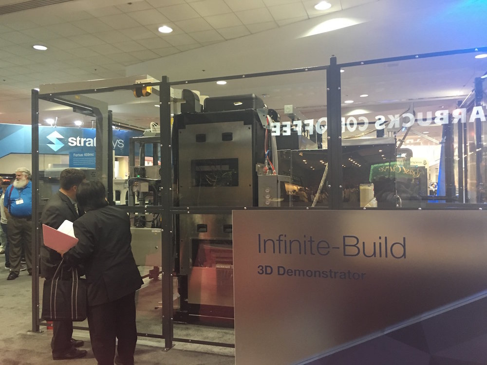 Stratasys' Infinite Build 3D demonstrator at IMTS