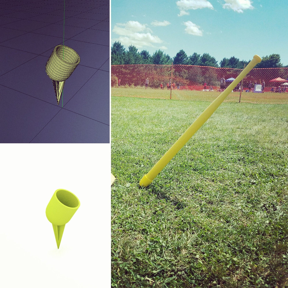The 3D printed Wiffle Ball Bat Holder