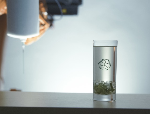 A 3D structure inside a drink by Print a Drink