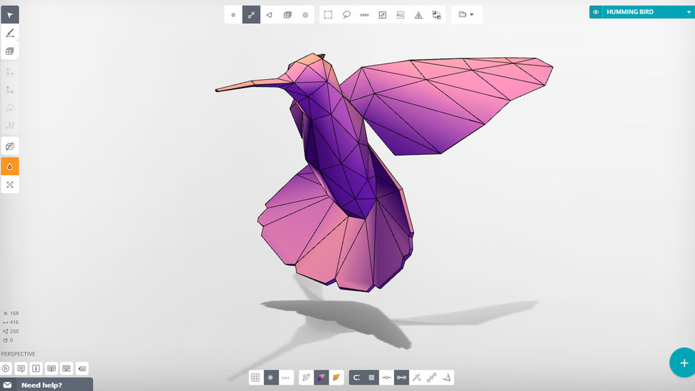 The Vectary 3D modeling interface