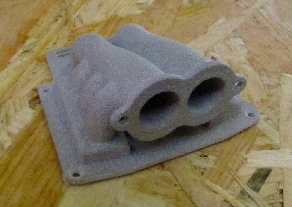A sample print from the Sharebot SnowWhite powder-based 3D printer