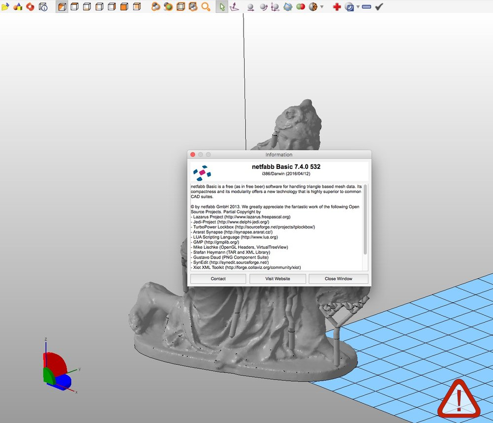 Screenshot of Netfabb Basic version 7.4.0