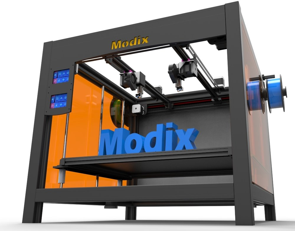 The Modix Tango, featuring a truly independent dual extrusion system
