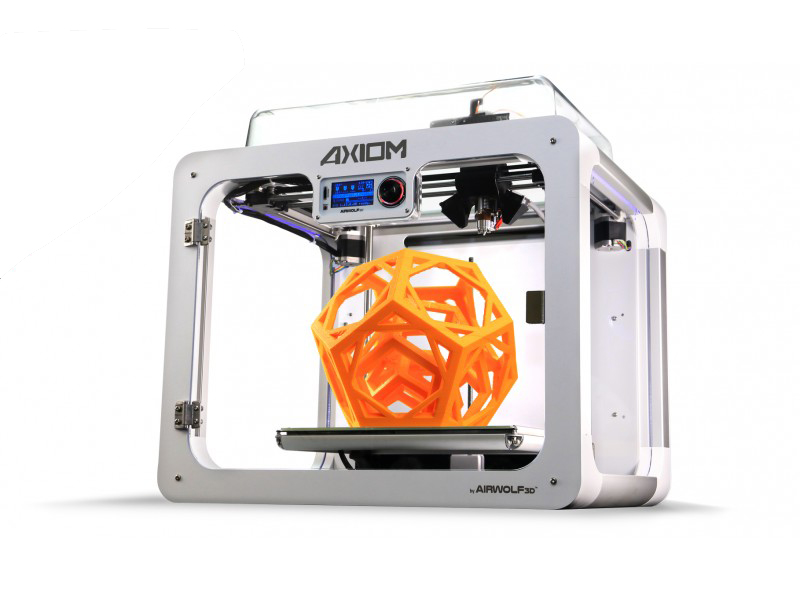 An AXIOM 3D printer from Airwolf3D equipped with a direct drive