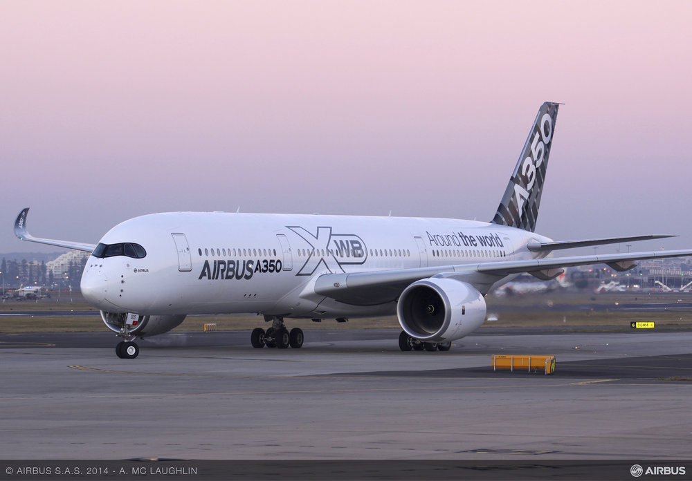 The Airbus A350 XWB uses a number of 3D printed production parts