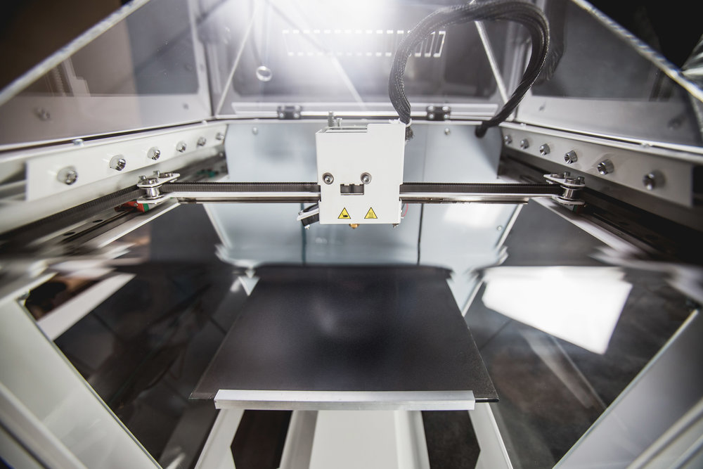 Inside the GEMform desktop 3D printer