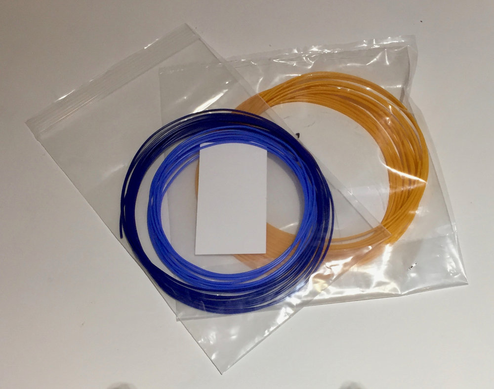 Sealed bags of 3D printer filament