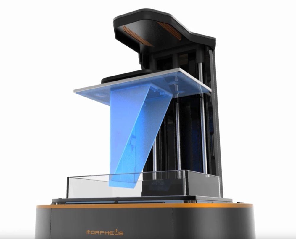 The Morpheus Delta resin-based 3D printer