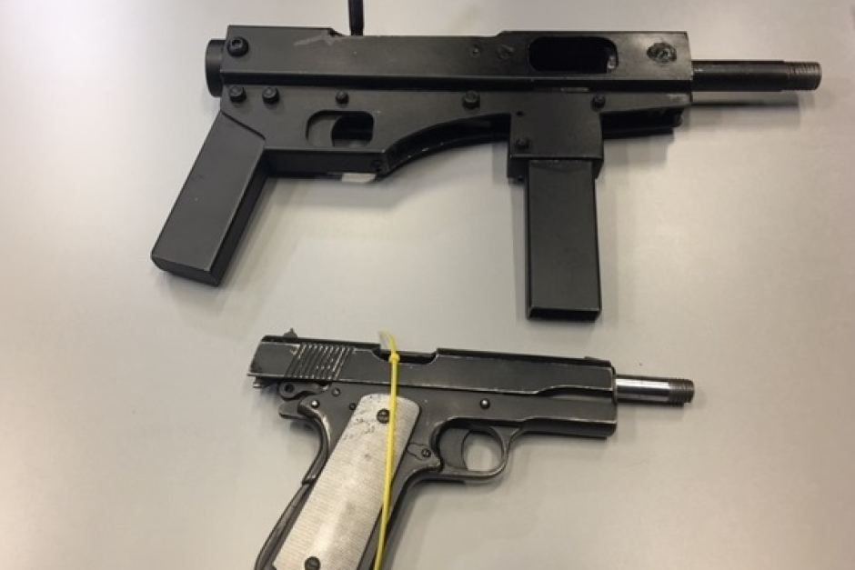 Metal-appearing guns supposedly 3D printed by criminals