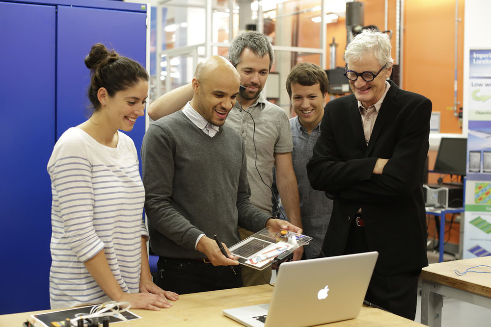 James Dyson and students