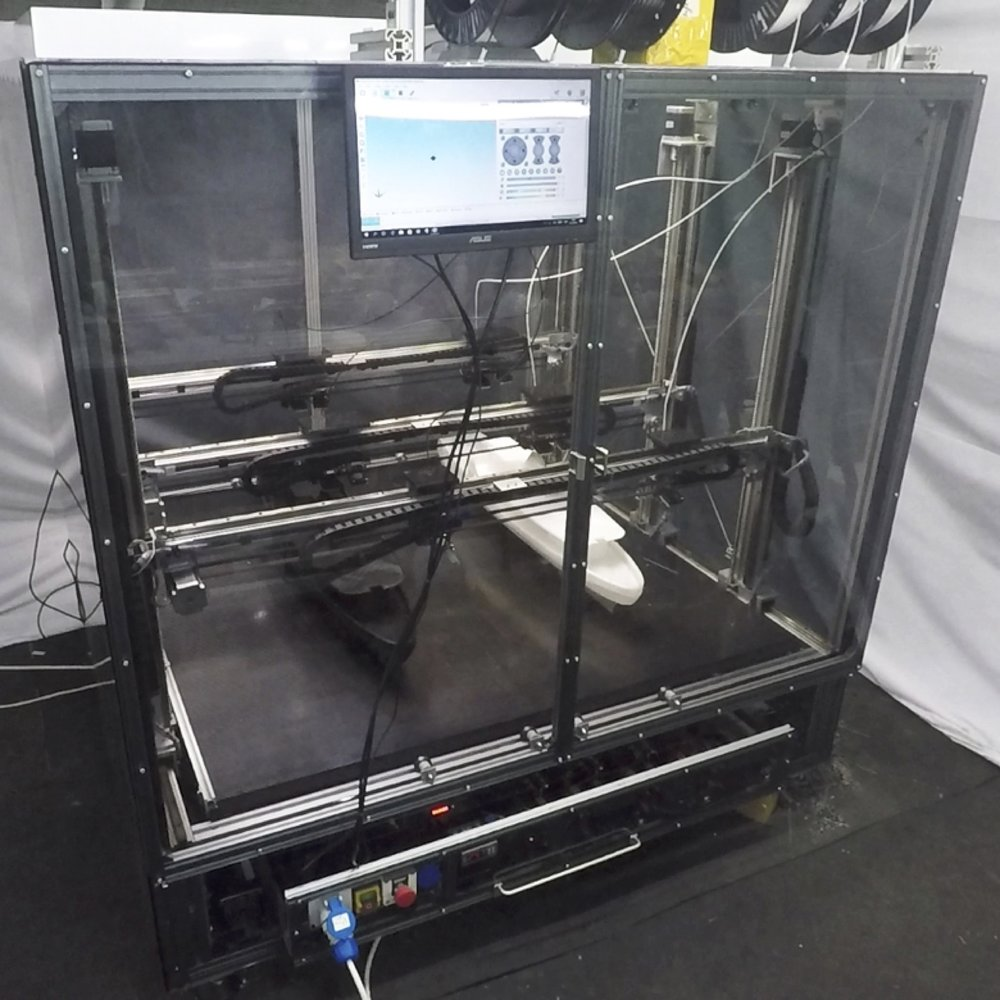 The Dragon six-extruder large-format 3D printer