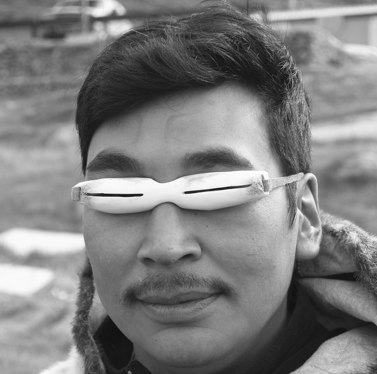 Traditional Inuit snow goggles