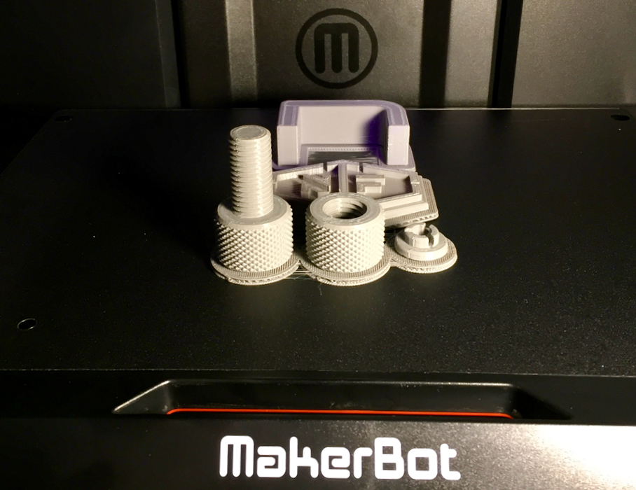 Some excellent part prints on the MakerBot Replicator+