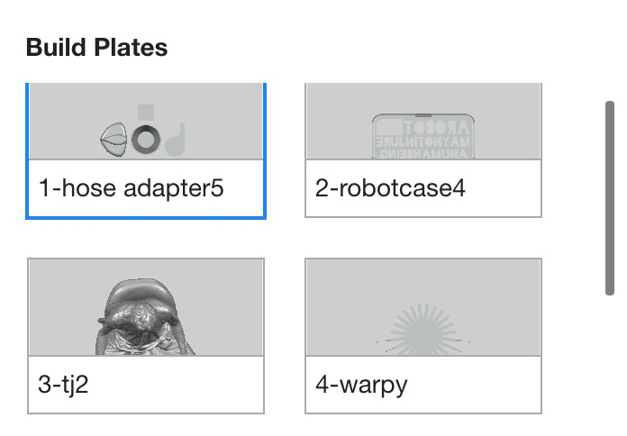 Additional build plates are automatically generated by MakerBot Print