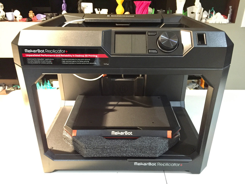 The MakerBot Replicator+ being u