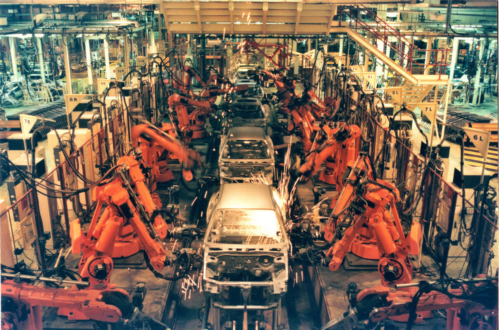 A robotic assembly line
