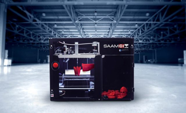 The SAAM 3D plastic printer from Cincinnati Inc.