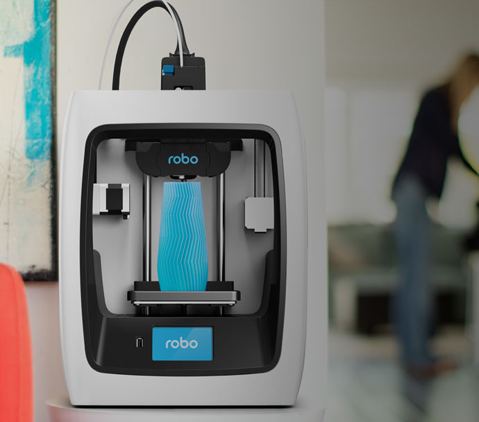 The Robo C2 desktop 3D printer