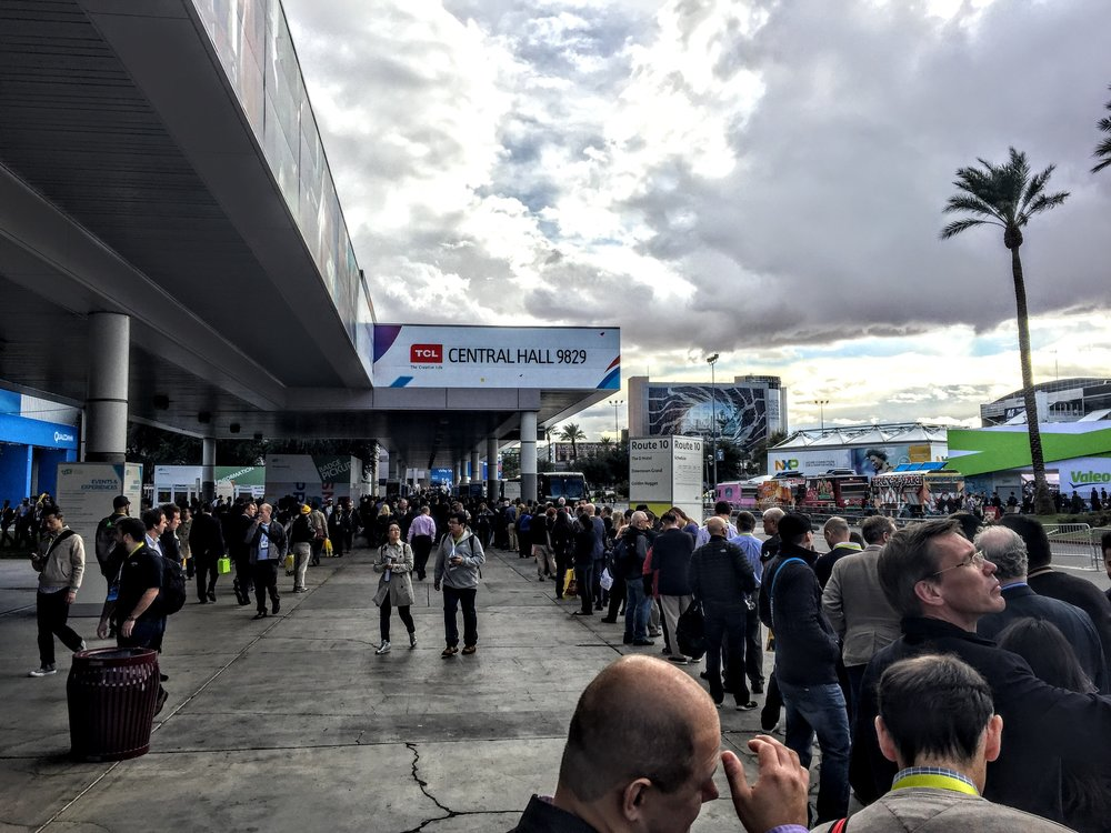 Always big crowds at CES