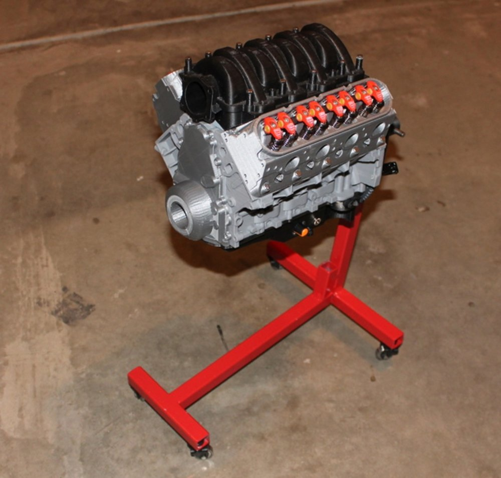 A full 3D printed replica of a V8 engine