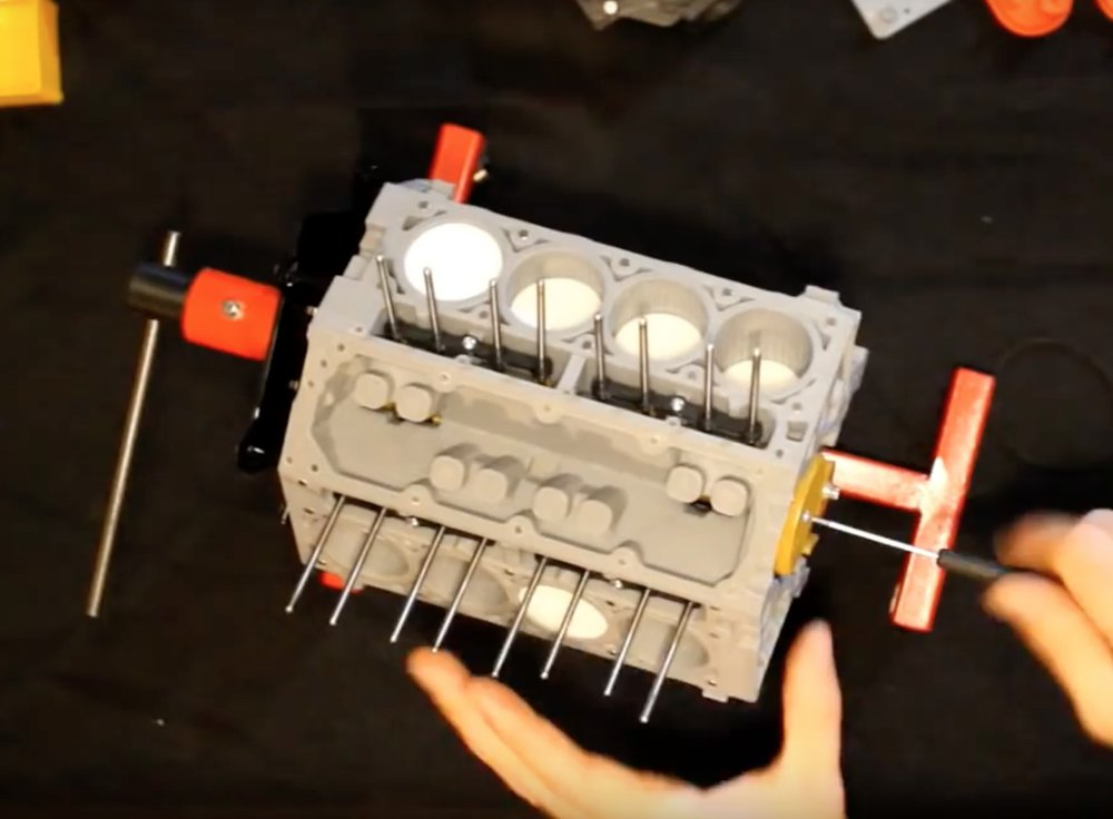 Assembling the 3D printed Chevy Camaro LS3 V8 engine