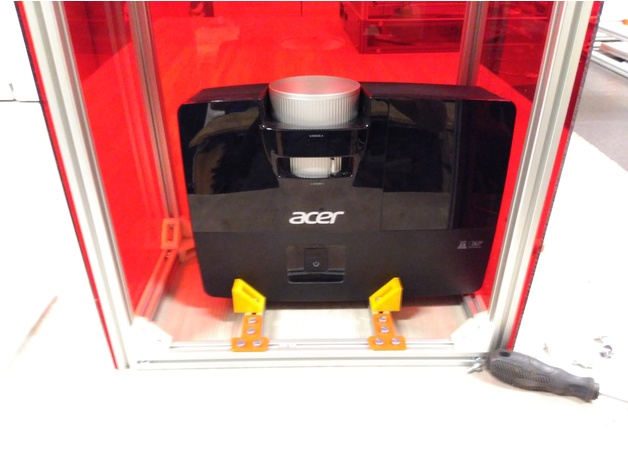 The projector in the RooBee One 3D printer