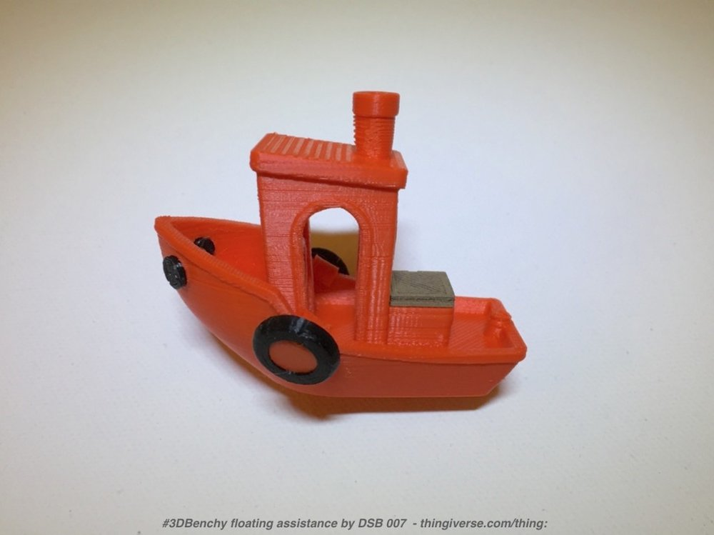 A fully equipped #3DBenchy print