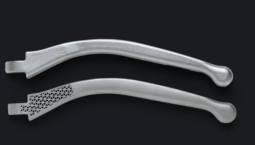 Sample metal 3D printed parts from the Markforged Metal X